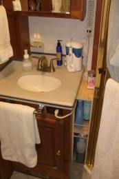 Small Space Storage Solution in Bathroom