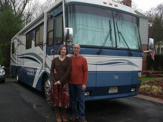Karen and Bernie in front of our 2000 Monaco Windsor Diesel Pusher