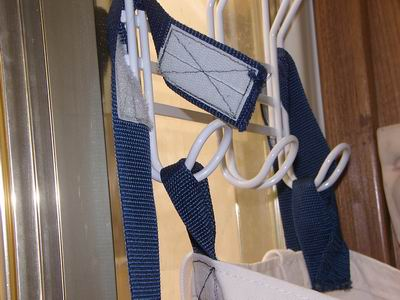 Straps with Velcro to hold bags