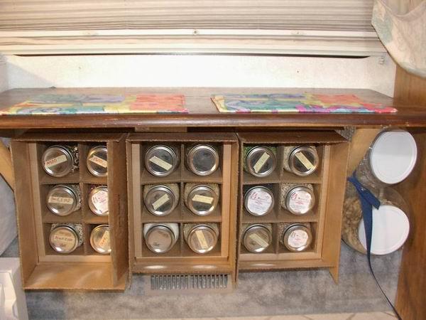 Storage of Jars Opened