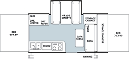 Pop Up Floorplan