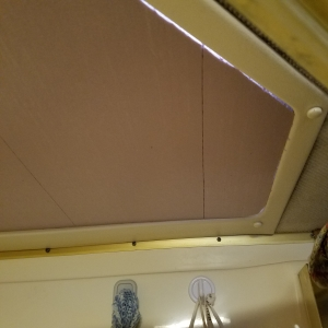 Shower Skylight Cover for RV - Right side