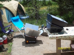Solar Ovens at Navajo Lake, Utah