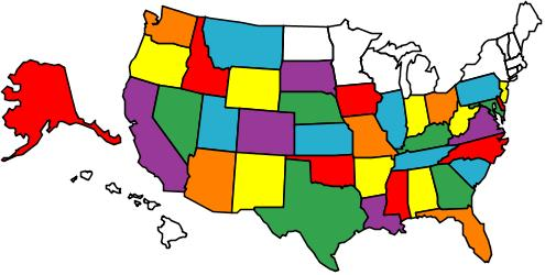 USA and Alaska Map