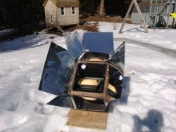 Global Sun Oven cooking in winter